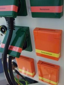 Notstromsteckdosen eines Notstromgenerators